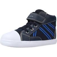Chaussures Garçon Bottes Geox B GISLI BOY Bleu