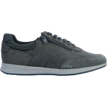 Chaussures Homme Baskets basses Geox Basket Cuir U Avery Noir