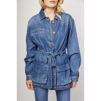 Vêtements Vestes en jean Toxik3 Veste - Zanon Bleu jean