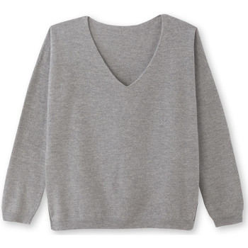 Vêtements Femme Pulls Kocoon Pull col V pure laine gris