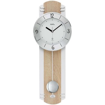 Maison & Déco Horloges Ams 5291, Quartz, White, Analogue, Modern Blanc
