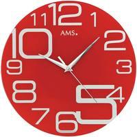 Maison & Déco Horloges Ams 9462, Quartz, Red, Analogue, Modern Rouge