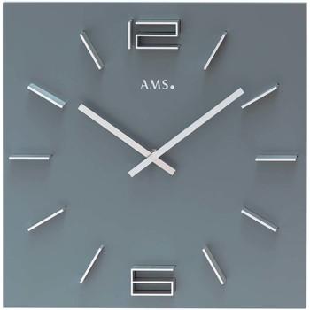 Vêtements de nuit Horloges Ams 9594, Quartz, Grey, Analogue, Modern Gris