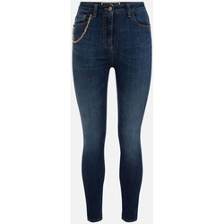 Vêtements Femme Jeans slim Elisabetta Franchi PJ21S16E2 denim