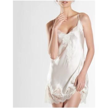 Vêtements Femme Pyjamas / Chemises de nuit Aubade nuisette en soie toi mon amour Nacre