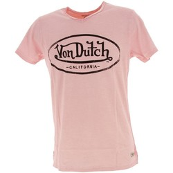 Vêtements Homme T-shirts manches courtes Von Dutch Ron rse mc tee Rose