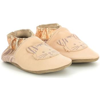 Chaussures Fille Chaussons bébés Robeez Zebra Meow ROSE