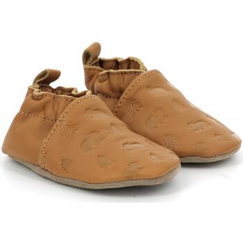 Chaussures Garçon Chaussons bébés Robeez Bear's Walk CAMEL