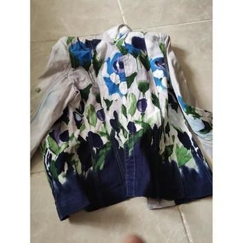 Vêtements Femme Vestes / Blazers Lea Kanth blazer bleu/vert ceintré Multicolore