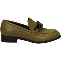 Chaussures Femme Mocassins Crispi VITELLO CATENA NERA carciofo