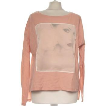 Vêtements Femme Tops / Blouses Sisley Top Manches Longues  36 - T1 - S Rose