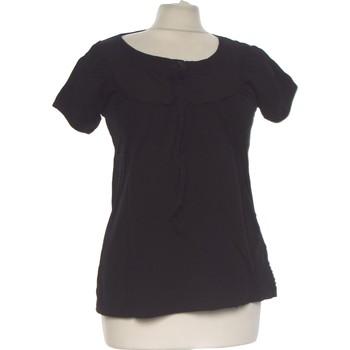 Vêtements Femme Tops / Blouses Camaieu Top Manches Courtes  36 - T1 - S Noir