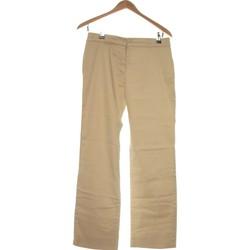 Vêtements Femme Pantalons Autre Ton Pantalon Droit Femme  38 - T2 - M Beige