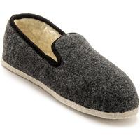Chaussures Homme Chaussons Honcelac Charentaises mixtes fourrées laine grisuni