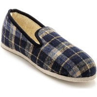 Chaussures Homme Chaussons Honcelac Charentaises mixtes fourrées laine ecossaisbleu