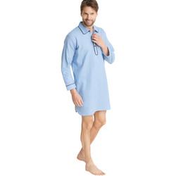 Vêtements Homme Pyjamas / Chemises de nuit Honcelac Liquette de nuit flanelle imprimbleu