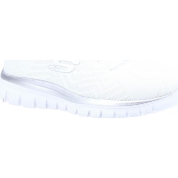 Chaussures Femme Running / trail Skechers Graceful Get Connected Blanc et Argent