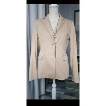 Vêtements Femme Vestes / Blazers Armistice Blazer beige rayé Beige