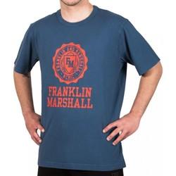 Vêtements Homme T-shirts manches courtes Franklin & Marshall T-shirt Franklin & Marshall Classique bleu marine