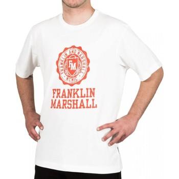 Vêtements Homme T-shirts manches courtes Franklin & Marshall T-shirt Franklin & Marshall Classique blanc crème