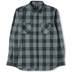 Vêtements Homme Chemises manches longues Edwin Chemise  Labour gris/noir