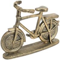 Maison & Déco Statuettes et figurines Amadeus Cades Déco vélo résine dorée 22x8x16cm Doré
