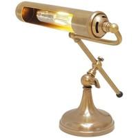 Maison & Déco Lampes à poser Chehoma Lampe piano bureau dorée 39x27cm Laiton