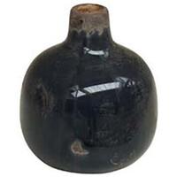 Maison & Déco Vases, caches pots d'intérieur Chehoma Vase céramique gris foncé 9x9cm Noir