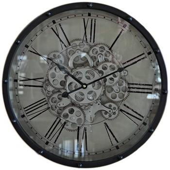 Maison & Déco Horloges Chehoma Grande horloge noire Genève 46cm Noir