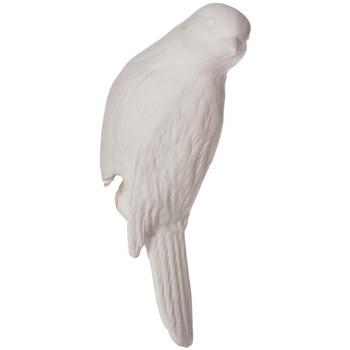 Maison & Déco Statuettes et figurines Chehoma Canari déco porcelaine 12.5x4cm Blanc