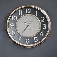 Maison & Déco Horloges Pomax Horloge métal noir Manhattan 47cm Noir