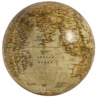 Maison & Déco Statuettes et figurines Chehoma Globe déco beige 13cm Beige