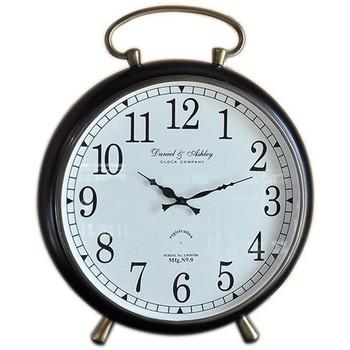 Maison & Déco Horloges Chehoma Horloge réveil fer noir 12x51cm Noir