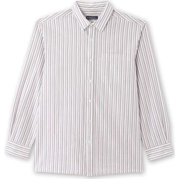 Vêtements Homme Chemises manches longues Honcelac Chemise rayée manches longues raymulticolore