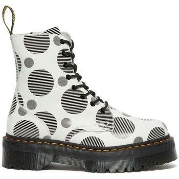 Chaussures Femme Bottines Dr Martens JADON POLKA Blanc