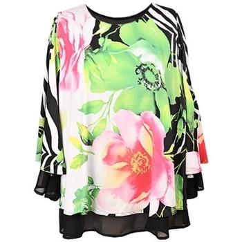 Vêtements Femme Tops / Blouses Georgedé Top Colombe Evasé en Jersey Imprimé Multicolore