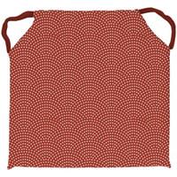 Maison & Déco Galettes de chaise Soleil D'ocre Paon Rouge