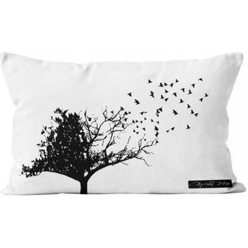 Maison & Déco Housses de coussins Soleil d'Ocre Birds Blanc