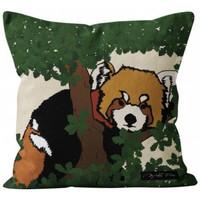 Maison & Déco Housses de coussins Soleil d'Ocre Panda Multicolore