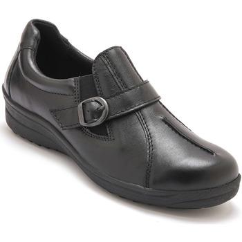 Chaussures Femme Slip ons Pediconfort Sans-gêne extra larges noir