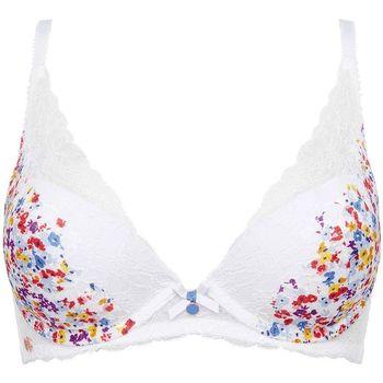 Sous-vêtements Femme Rembourrés Brigitte Bardot Soutien-gorge ampliforme coque moulée blanc Bouquet Blanc