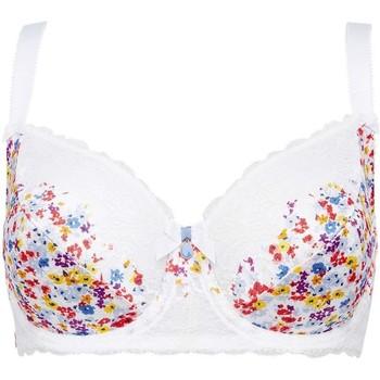 Sous-vêtements Femme Corbeilles & balconnets Brigitte Bardot Soutien-gorge grand maintien blanc Bouquet Blanc
