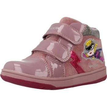 Chaussures Fille Baskets montantes Geox B NEW FLICK GIRL Rose