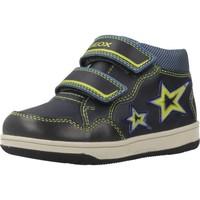 Chaussures Garçon Baskets montantes Geox B NEW FLICK BOY Bleu
