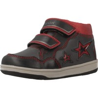 Chaussures Garçon Baskets montantes Geox B NEW FLICK BOY Gris