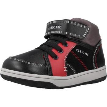 Chaussures Garçon Baskets montantes Geox B NEW FLICK BOY Noir