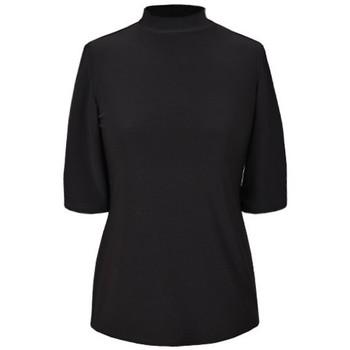 Vêtements Femme Tops / Blouses Georgedé Top Névé Col Montant en Jersey Uni Noir Noir