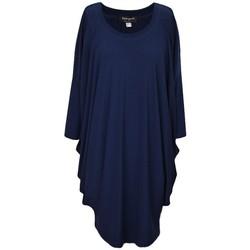 Vêtements Femme Robes courtes Georgedé Robe Calie Drapée Unie Bleu Marine Bleu