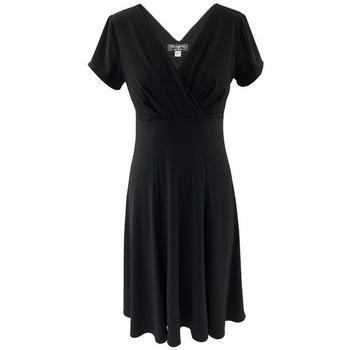 Vêtements Femme Robes courtes Georgedé Robe Annie Col V Dos en Jersey Noir Noir