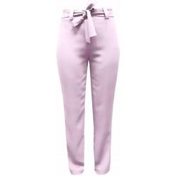 Vêtements Femme Pantalons fluides / Sarouels Georgedé Pantalon Emma Fluide avec Ceinture Rose Rose